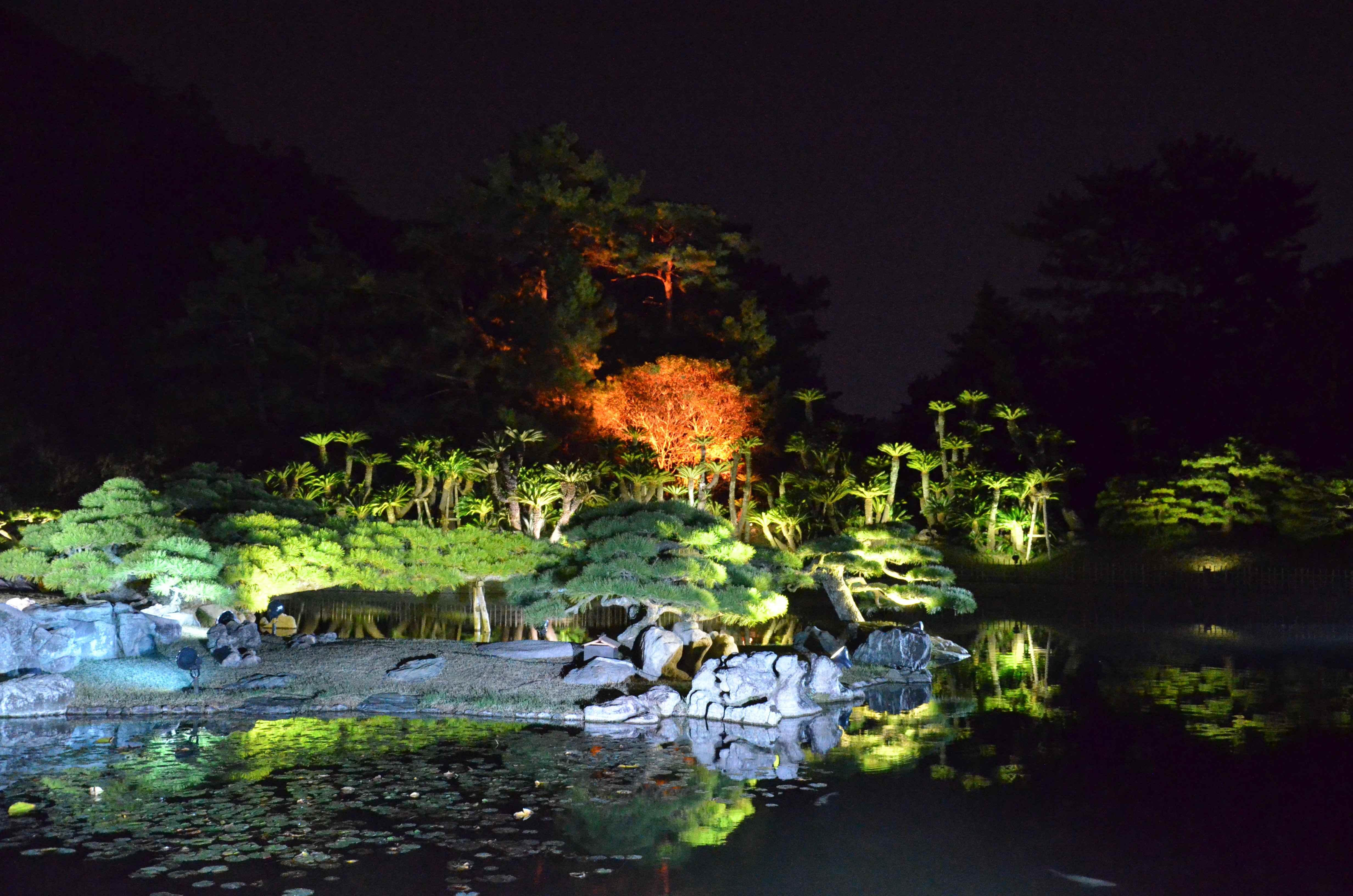 栗林公園ライトアップ4