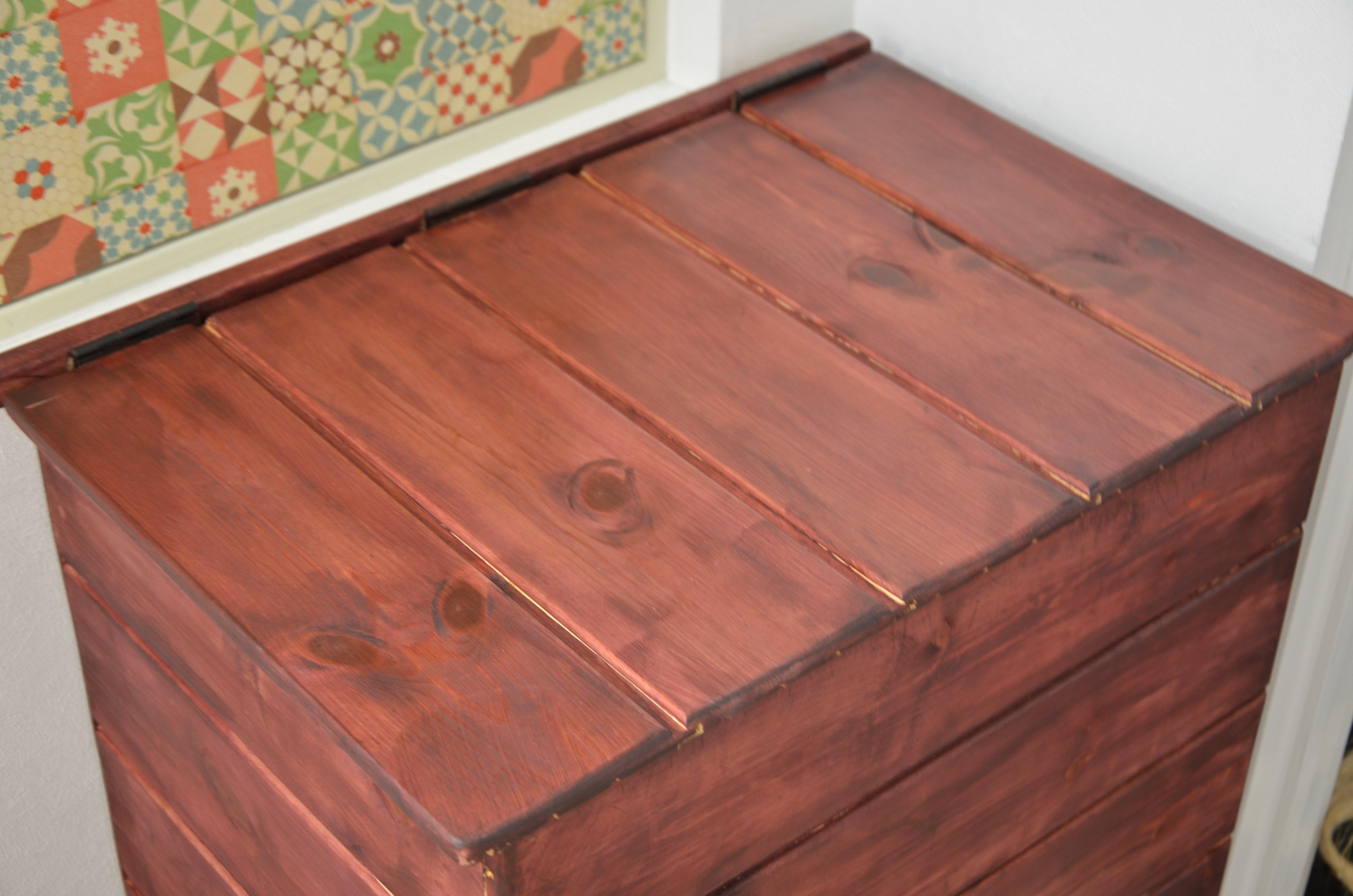 木製ゴミ箱
